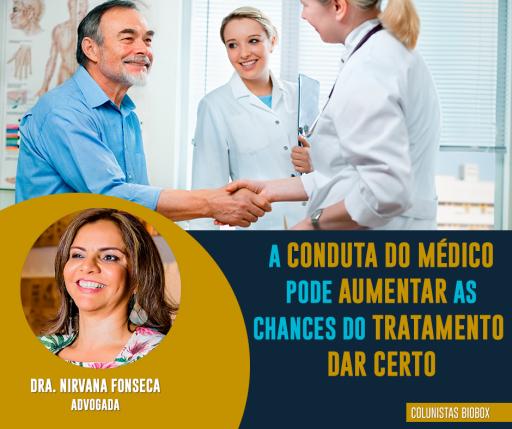 """Imagem ilustrativa para o post """"A conduta do médico pode aumentar as chances de tratamento dar certo."""""""