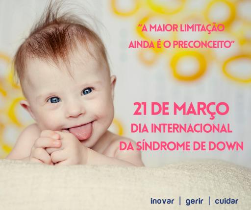 """Imagem ilustrativa para o post """"21 de Março - Dia Internacional da Síndrome de Down"""""""